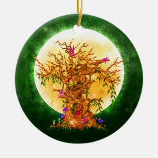 The Enchanted Faerie Tree Yule Ornament