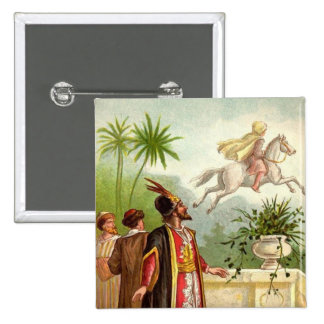 The Enchanted Horse Scheherazade's Tale 2 Inch Square Button