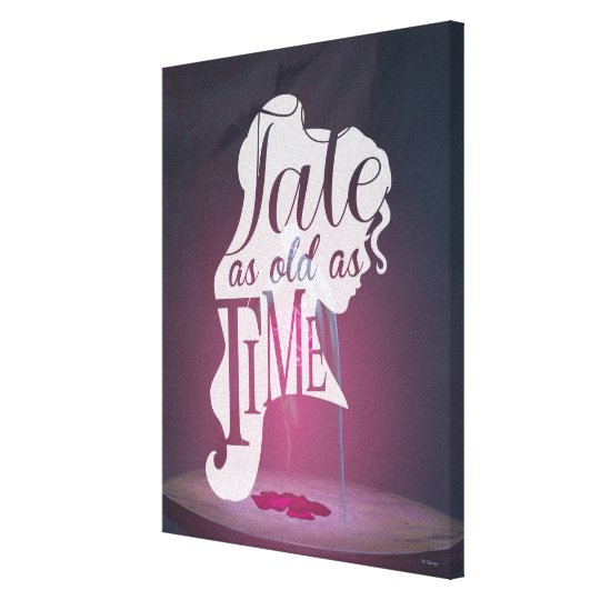 The Enchanted Rose   Tale As Old As Time Canvas Print