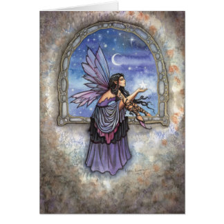 The Enchanted Window Fairy Fantasy Art Card