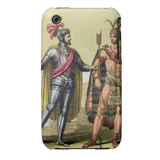 The Encounter between Hernando Cortes (1485-1547) Case-Mate iPhone 3 Cases