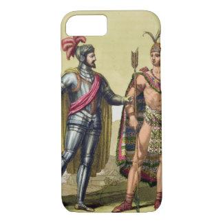 The Encounter between Hernando Cortes (1485-1547) iPhone 7 Case