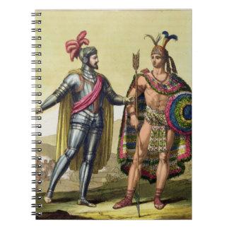 The Encounter between Hernando Cortes (1485-1547) Note Book