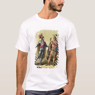 The Encounter between Hernando Cortes (1485-1547) T-Shirt
