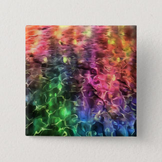 The End of The Rainbow Abstract 2 Inch Square Button