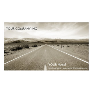 The endless desert road business card