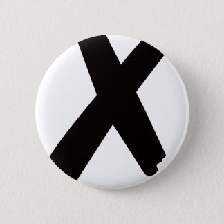 "The English American Letter ""X"" 2 Inch Round Button"