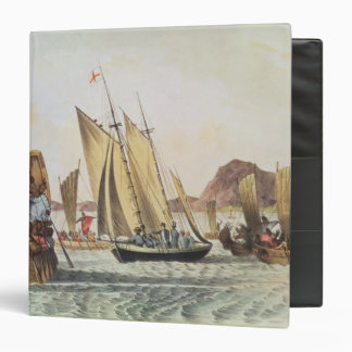 The English being welcomed ashore in South Seas 3 Ring Binders
