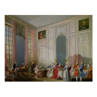 The English Tea  and a Society Concert Postcard