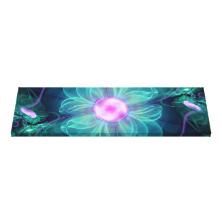 The Enigma Bloom, an Aqua-Violet Fractal Flower Canvas Print