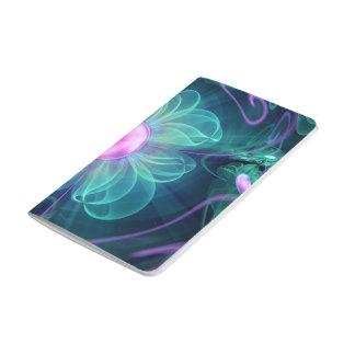 The Enigma Bloom, an Aqua-Violet Fractal Flower Journal
