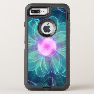 The Enigma Bloom, an Aqua-Violet Fractal Flower OtterBox Defender iPhone 8 Plus/7 Plus Case