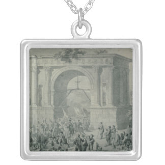 The entrance of French troops to A'Osta Silver Plated Necklace