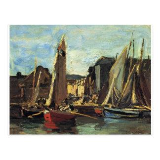 The Entrance to the Port of Honfleur Eugene Boudin Postcard
