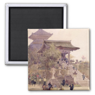 The Entrance to the Temple of Kiyomizu-Dera, Kyoto Square Magnet