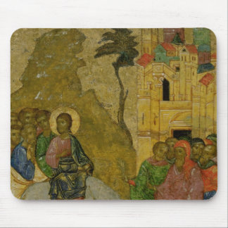 The Entry into Jerusalem, Russian icon Mouse Pads