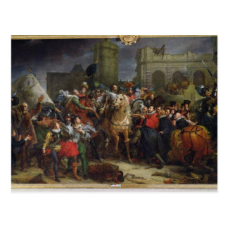 The Entry of Henri IV  into Paris Postcard