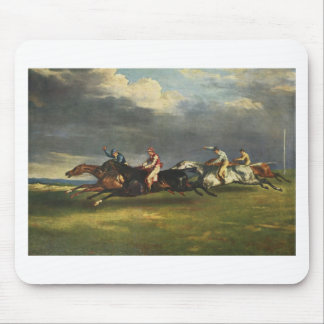 The Epsom Derby by Theodore Gericault Mouse Pad