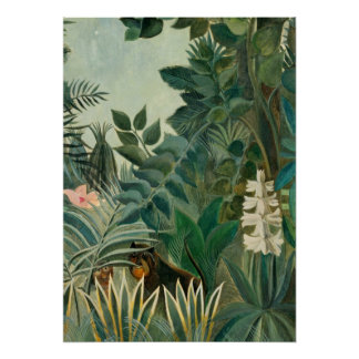 The Equatorial Jungle, 1909 (oil on canvas) Poster