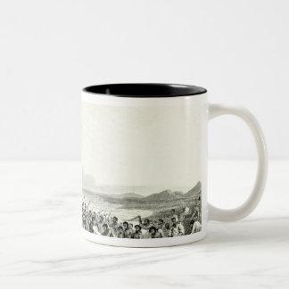 The Eskimoes Pillaging the Boats Two-Tone Coffee Mug