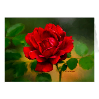 "The ""essence"" of a Red Rose! Card"