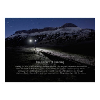 The Essence of Running Poster