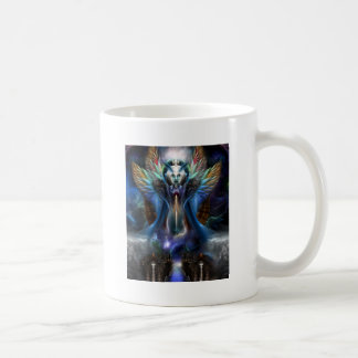 The Eternal Majesty Of Thera Fractal Portrait Coffee Mug