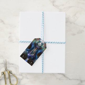 The Eternal Majesty Of Thera Fractal Portrait Gift Tags