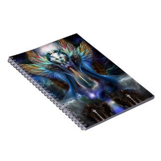 The Eternal Majesty Of Thera Fractal Portrait Notebooks