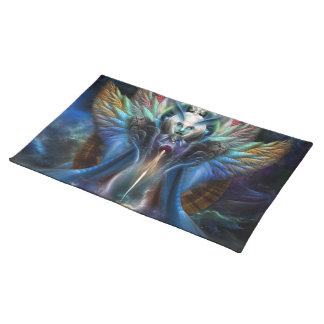 The Eternal Majesty Of Thera Fractal Portrait Placemat