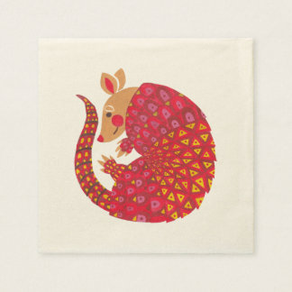 The Ethnic Armadillo Paper Napkins