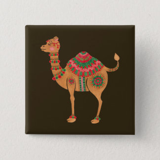 The Ethnic Camel 2 Inch Square Button