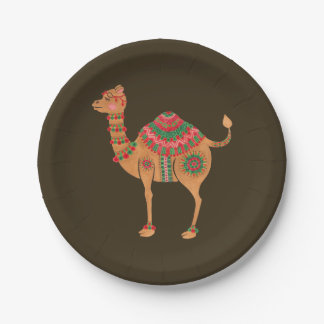 The Ethnic Camel 7 Inch Paper Plate