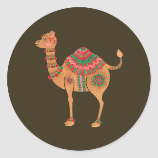 The Ethnic Camel Classic Round Sticker