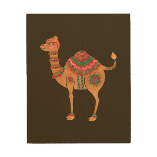 The Ethnic Camel Wood Print