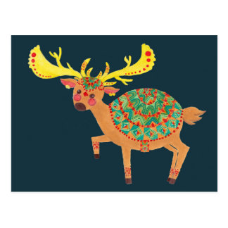The Ethnic Christmas Deer Post Cards