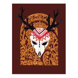 The Ethnic Deer Head Postcard