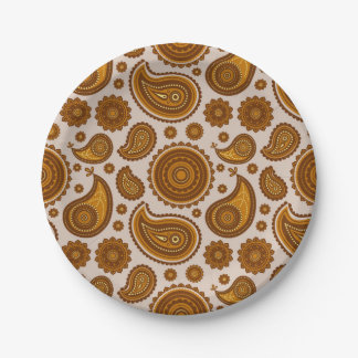 The Ethnic Paisley Paper Plate