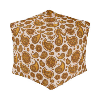 The Ethnic Paisley Pouf