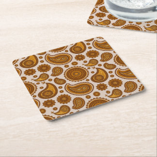 The Ethnic Paisley Square Paper Coaster