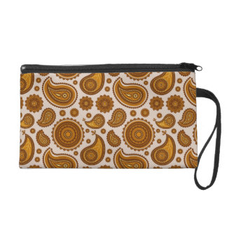 The Ethnic Paisley Wristlet