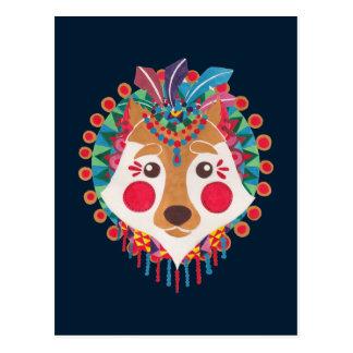 The Ethnic Wolf Postcard