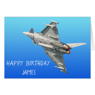 The Eurofighter Typhoon Birthday personalized Card