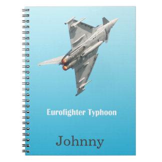 The Eurofighter Typhoon personalised Notebooks