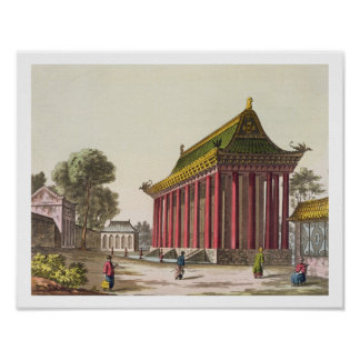The 'European Palace' at Yuen-Ming-Yuan, illustrat Poster