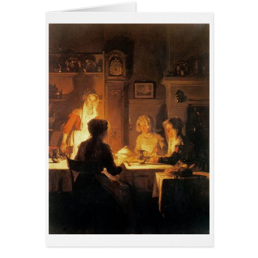 The Evening Meal, c.1900 (oil on canvas) Cards