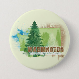 The Evergreen State 3 Inch Round Button