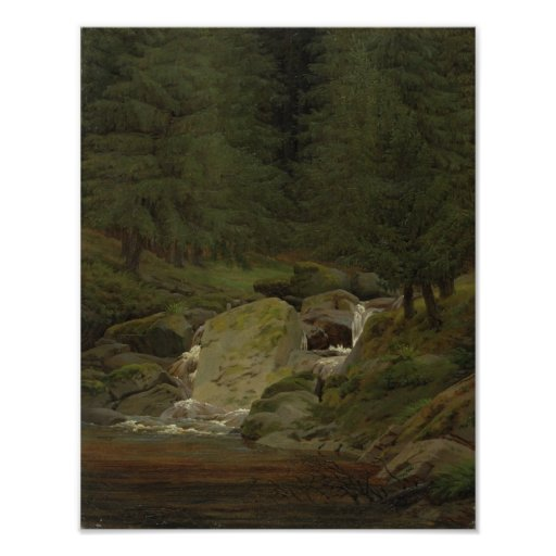 The Evergreens by the Waterfall Posters