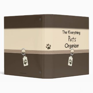 The Everything Pets Organizer Vinyl Binder