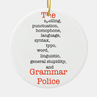 The Everything Police Round Ceramic Ornament